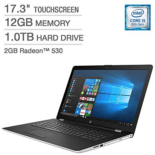 HP Premium High Performance 17.3in Touchscreen HD+ SVA (1600 x 900) Laptop~8th Gen Intel i5-8250U~12GB RAM~1TB HDD~Radeon 2GB~Wifi~Backlit~DVD-DW~Bluetooth-Win10(Renewed)