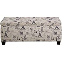 The Sole Secret French Stamp Button Tufted Shoe Storage Bench, Medium