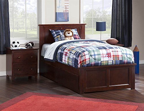 Contemporary Twin XL Bed with 2-Urban Bed Drawer