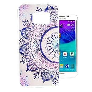 Para Galaxy S6 edge Funda , ivencase Slicona Carcasa Retro Tapa Flexible Suave Gel TPU Slim Piel Perfecto Fit Para Samsung Galaxy S6 edge SM-G925