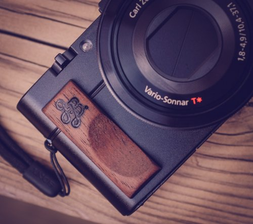 Price comparison product image Premium Wood Hand Grip for Sony RX100 and RX100M III and II by J.B. Camera Designs - Made in USA