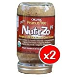 NuttZo Organic Power Fuel Crunchy Almond Butter, 16 Ounce (Pack of 6)