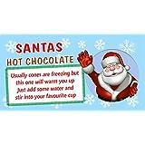 Personalised Santas Reindeer Food Christmas Poem Stickers Labels Seals Bags Cone