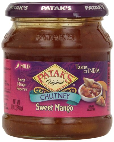 Patak's Sweet Mango Chutney, 12 oz (Major Chutney Grey)