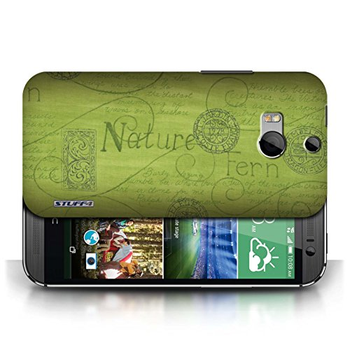 Etui / Coque pour HTC One/1 M8 / Vert conception / Collection de Motif Nature