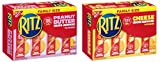 Nabisco Ritz Cracker Variety Bundle of 2 Flavors - Cheese & Peanut Butter, Individual Cracker Sandwiches, Family Size (32count 3.5 lbs)