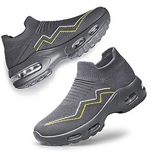 Vibdiv Slip-on Walking Shoes Women Sock Sneakers Air Cushion Lightweight Breathable Comfortable