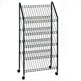 Safco 4129CH Mobile Literature Rack, 32-1/2w x 15-1/4d x 63-1/2, Charcoal