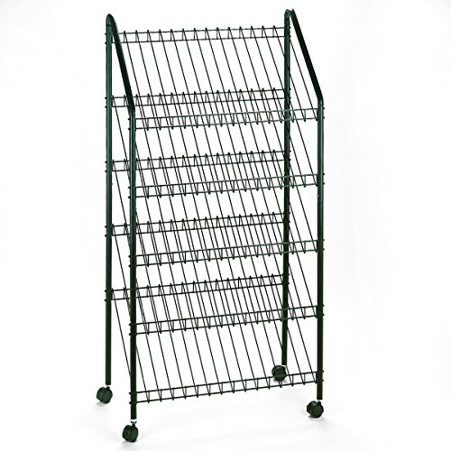 Safco 4129CH Mobile Literature Rack, 32-1/2w x 15-1/4d x 63-1/2, Charcoal by Safco Products