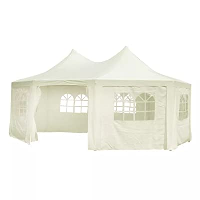 Unfade Memory Modern Fashion Design Good-Looking and Practical Octagonal Party Tent White : Garden & Outdoor