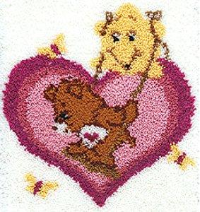 MCG Textiles Care Bear 20x27 Latch Hook Kit: Tenderheart Bear Swinging From A ()