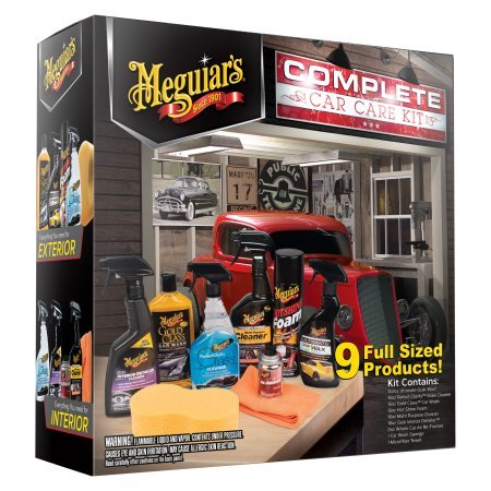 Meguiar's Complete Car Care Kit Gift, Holiday Gift Pack, 9 Items