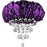 Whse of Tiffany RL1126 Wine Velvet Crystal Chandelier