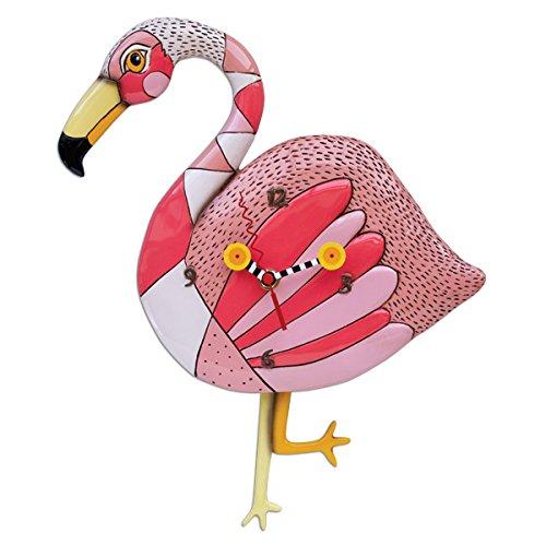 Allen Designs Flamingo Crazy Legs Pendulum Clock