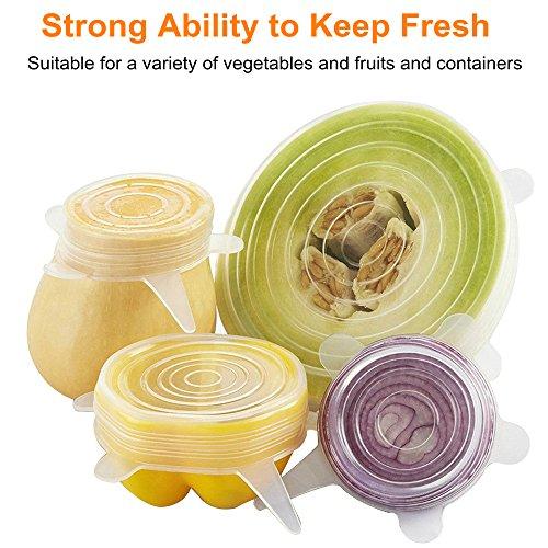 ... cuenco Covers 6 unidades de varios tamaños para tazas Keep frutas y hortalizas frescas seguro en lavavajillas microondas y congelador: Amazon.es: Hogar