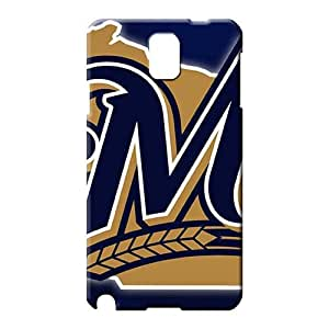samsung note 3 covers protection Customized stylish mobile phone back case milwaukee brewers mlb baseball