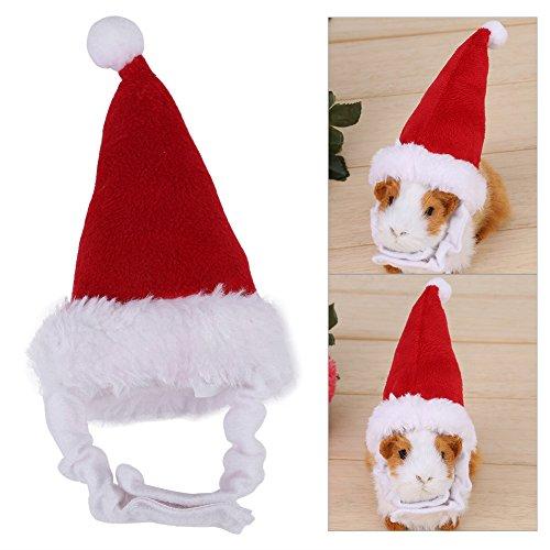 Filfeel Navidad de Mascotas, Fiesta de Santa Sombrero de Otoño Invierno Cálido para Conejillo de Indias Conejo