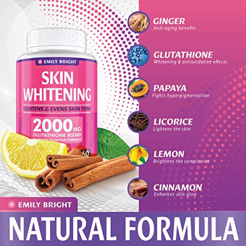 Glutathione Whitening Pills - 2000mg Glutathione - Better than Skin Lightening Cream - Dark Spots & Acne Scar Remover… 3