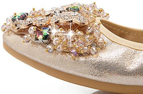 suaves de zapatos zapatos cómodos baile zapatos gran CYGG planos Zapatos de de mujeres 41 gold Ms conducción 45 y embarazadas tamaño diamantes OwxqX6Bx8