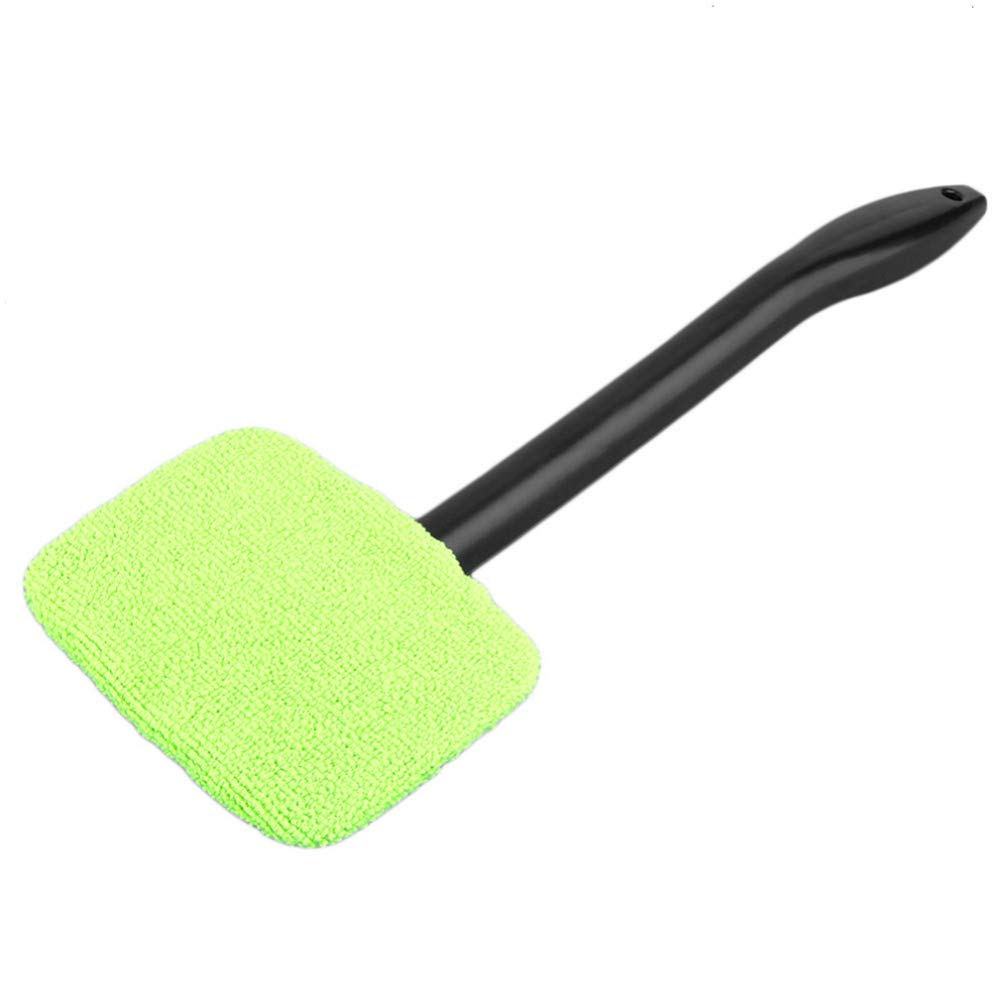 Little rock Car Windshield Window Fog Water Dust Remove Clean Cloth Brush Cleaning Tool Green