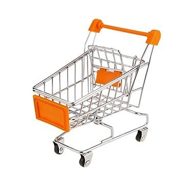 Black Temptation Juguete Mini Carro de Compras Carretilla de Mano Mini supermercado, Almacenamiento de Escritorio