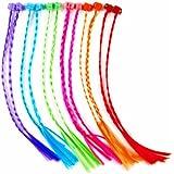 Fun Express Nylon Hair Braid Extensions Attachments - 12 Pieces