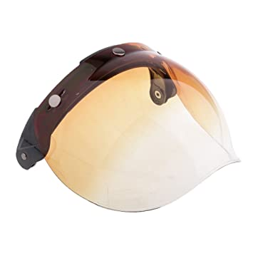 3dd829fa MonkeyJack Universal Gradient Bubble 3-Snap Motorcycle Helmet Visor Flip Up  Face Shield Lens Plain - 6, Helmet Visors - Amazon Canada