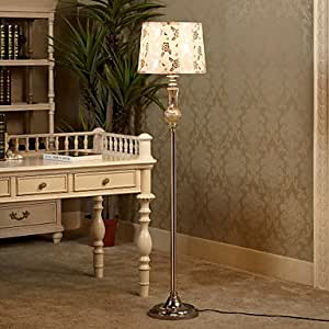 Floor Lamp Simple Style Painting Glass and Metal