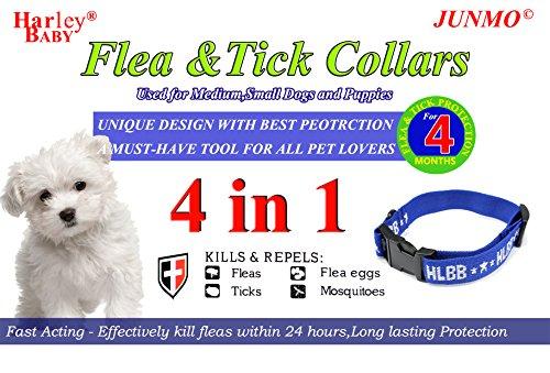 Zeckenhalsband für kleine, mittlere und große Hunde & Katze Der Natürliche Zeckenschutz Wirksamen Schutz gegen Flöhen, Zecken und Läusen Halsband gegen Ektoparasiten (Medium/Small, Blau(Hund))