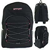 Wholesale 19'' Bungee Design Backpack Asst Colors - Case of 24
