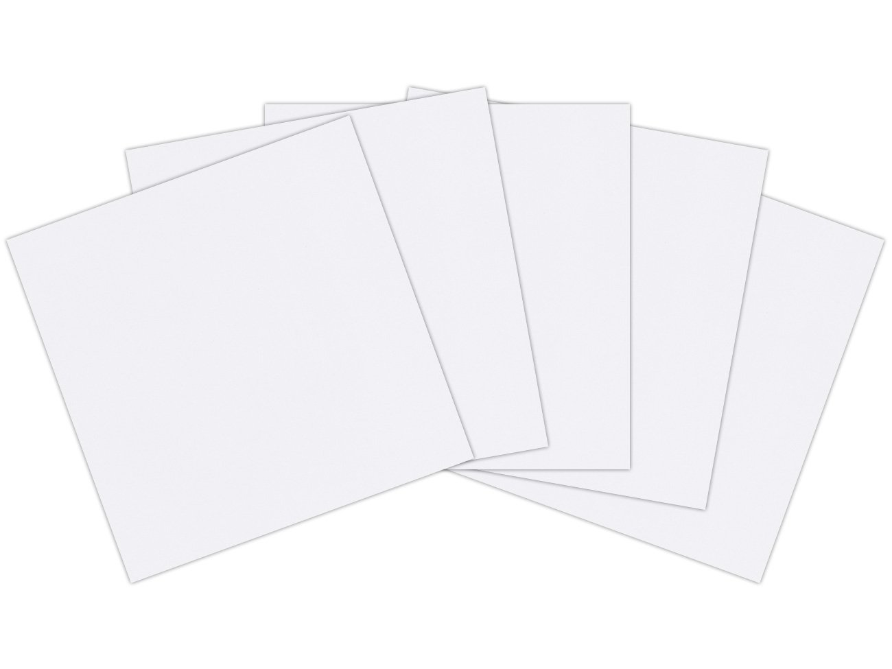 12 x 12 inches (305mm x 305mm) 300gsm 340mic Craft Creations Economy White Cardboard - Sheets Of Acid Free, Smooth, White Card Stock (250) Craft Creations Ltd