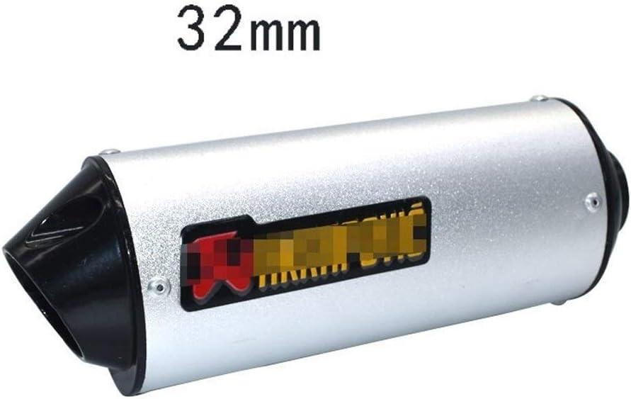 Color : Black 28mm 28 mm 32 mm 38 mm 51 mm de Escape de la Motocicleta silenciador del Tubo por un 125cc 150cc 160cc Suciedad Bici del hoyo