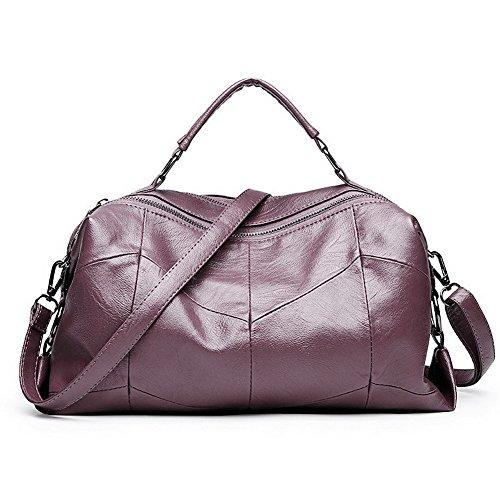 Moda Viola Borse Style Argento Tote a FBUIBD181241 tracolla AllhqFashion Luccichio a Donna Borse tracolla 4twCOqnfx
