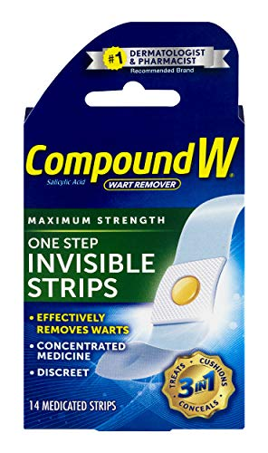 Compound W One Step Invisible Strips | Wart Removal | 14 Strips