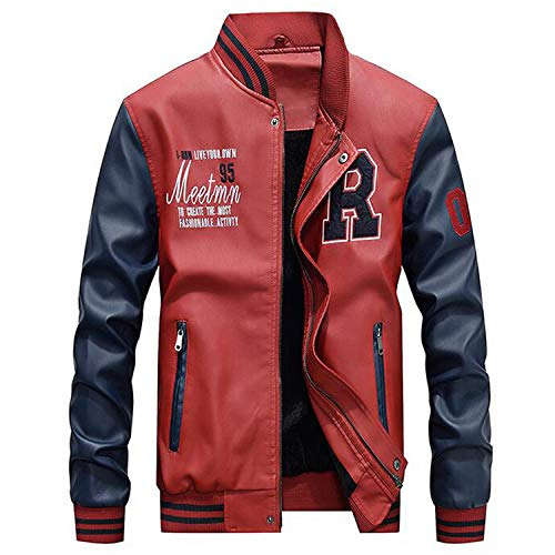 Amazon.com: AFS Jeep Embroidery Baseball Jackets Men Plus Size 4XL Fleece Pilot Leather Jacket Hombre: Clothing