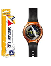 Casio Smart Outdoor Watch Screen Protector [3-PACK][WSD-F10], DeltaShield BodyArmor - Premium HD Ultra-Clear Cover Shield with Lifetime Warranty - Anti-Bubble & Anti-Fingerprint Military-Grade Film