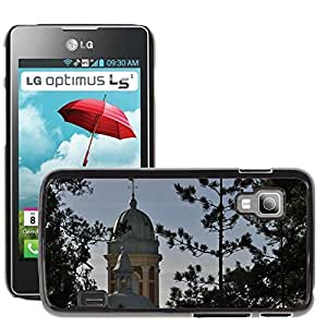 Hot Style Cell Phone PC Hard Case Cover // M00307320 Church Landscape Tower // LG Optimus L5 II Dual E455 / E460