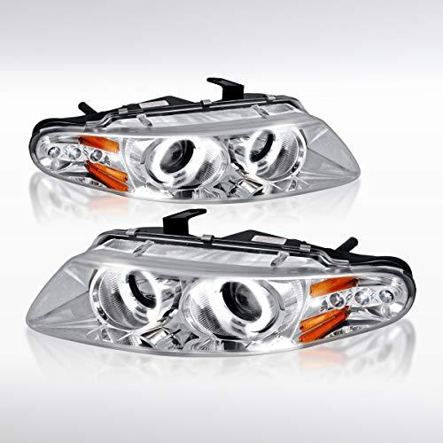 (Autozensation For Dodge Avenger/Sebring 2Dr Coupe Chrome LED Halo Projector Headlights Pair)