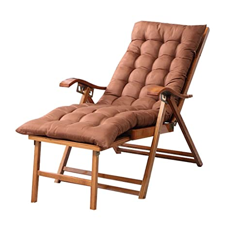Tumbona de Madera, reclinable Ajustable con Cojines, Cojines ...