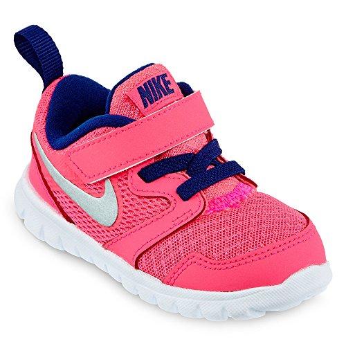 Nike Flex Blue Experience / los muchachos del negro de los zapatos corrientes (2 M US Toddler, Hyper Hyper Pink/Royal Blue/White/Silver