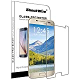 ShockWize Tempered Glass Screen Protector for Samsung Galaxy S7, Clear