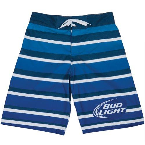 Bud Light Striped Men's Beach Board Shorts (S)