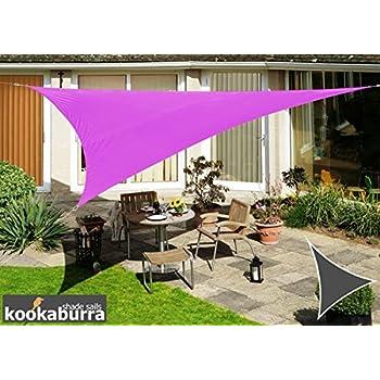 Kookaburra Waterproof Sun Sail Shade u2013 Purple - 16ft 5  Triangular  sc 1 st  Amazon.com & Amazon.com : Kookaburra Waterproof Sun Sail Shade - Purple - 16ft ...