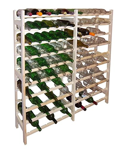 Home-App Vinland 120 Bottle Wine Rack, 12 wide by 10 high Home Supply Maintenance Store 100 Bottle Wine Rack