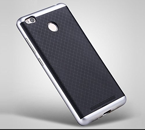 detailed look 35bec f3821 iPaky Hybrid Ultra Thin Shockproof Back + Bumper Case Cover for Xiaomi  Redmi 3S Prime - Silver