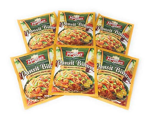 MAMA SITA'S - PANSIT BIHON - RICE NOODLES STIR - FRY MIX / 6 X 1.4 OZ - 40 G / Product of the Philippines