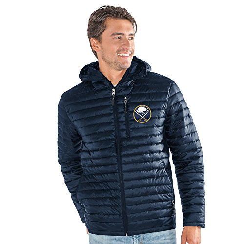 - G-III Sports NHL Buffalo Sabres Men's Equator Quilted Jacket, X-Large, Navy