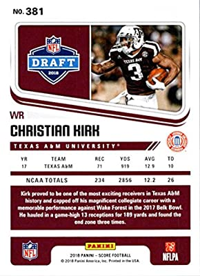 82d0c2e8f Amazon.com  Football NFL 2018 Score  381 Christian Kirk  381 Rookie ...