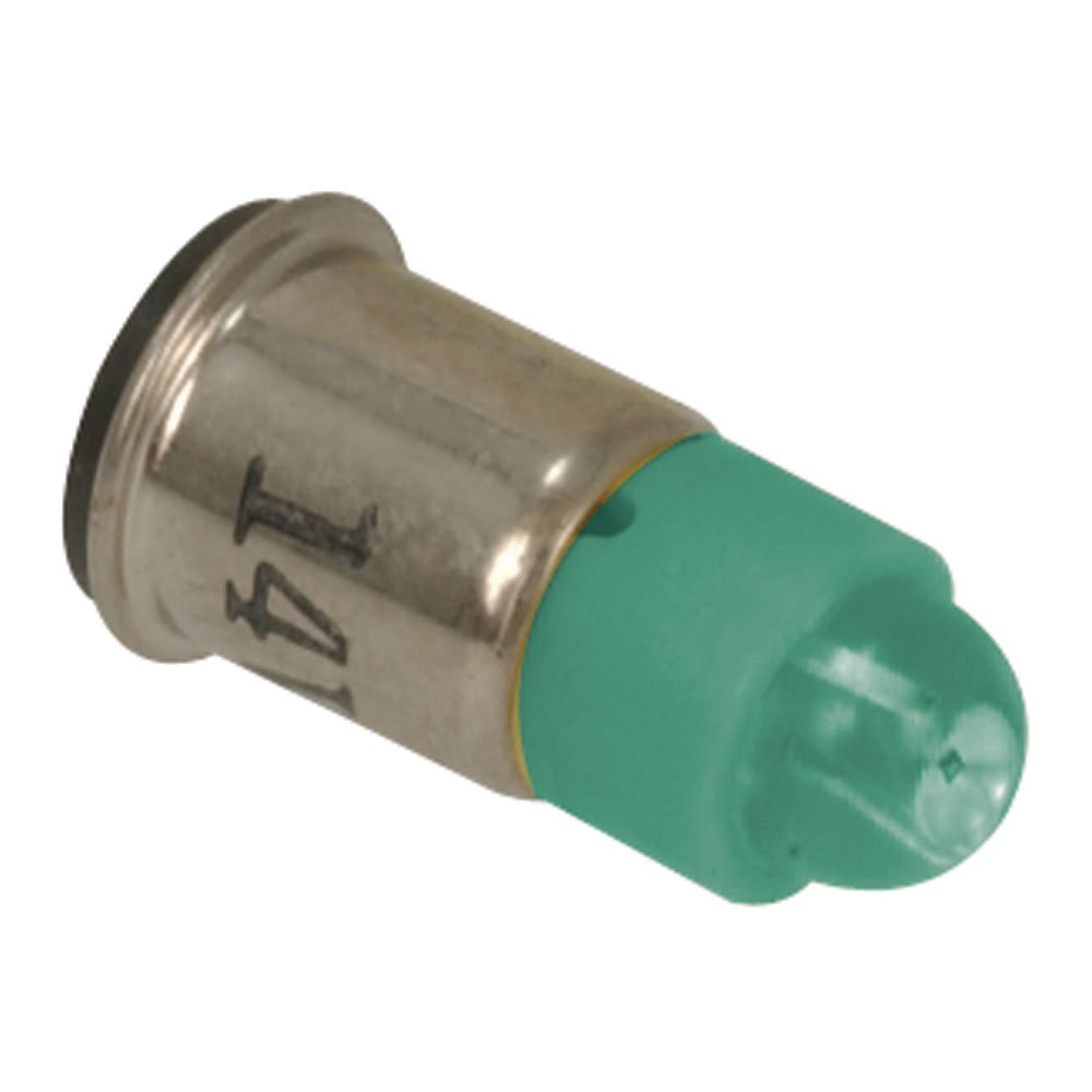Pack of 3 Green 14VDC Jameco Valuepro 585-1313-VP LED Replacement Lamp 525nm Midflange Base