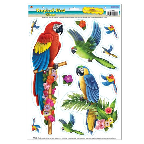 UPC 034689544470, Tropical Bird Clings Party Accessory (1 count) (11/Sh)